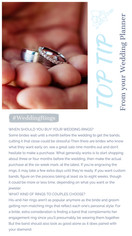 When to buy your wedding bands?