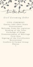 Civil Ceremony Order