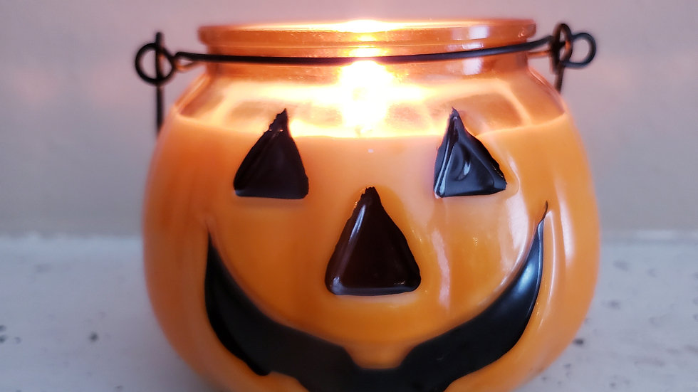 1 for $14 JES 10 oz. Halloween Jack-O-Latern Soy Wax Candle