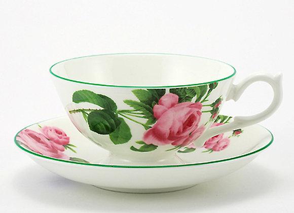 English Rose Teacup & Saucer