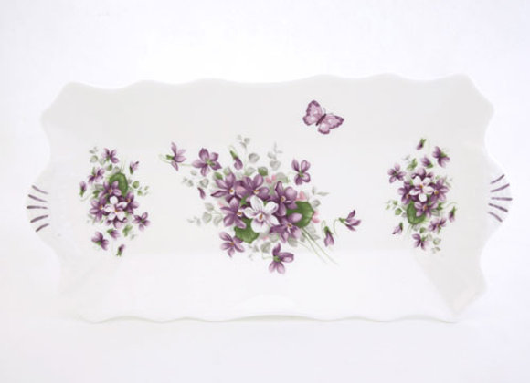 English Violet Sandwich Tray