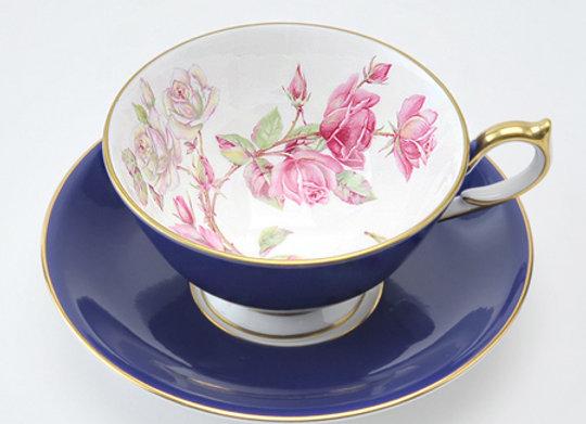Elizabeth Rose Athens Teacup & Saucer Blue