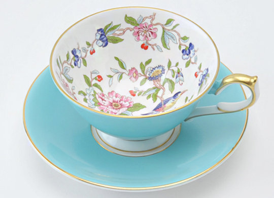Pembroke Athens Teacup & Saucer Turquoise