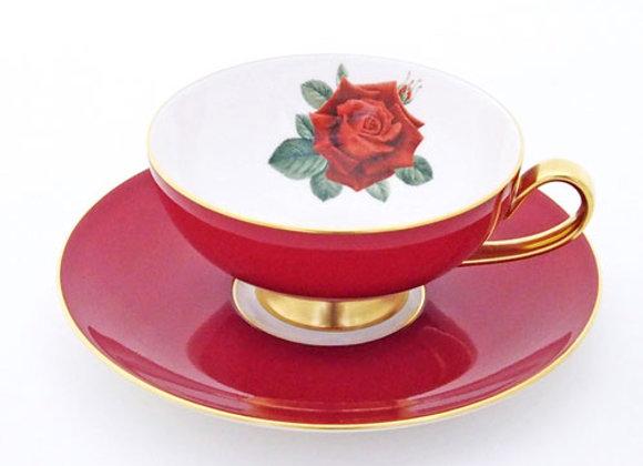 Narumi Teacup & Saucer Red