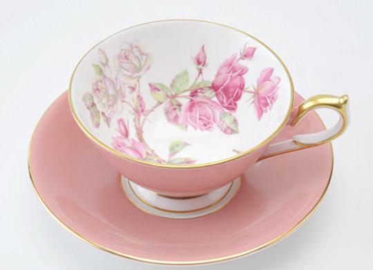 Elizabeth Rose Athens Teacup & Saucer Pink