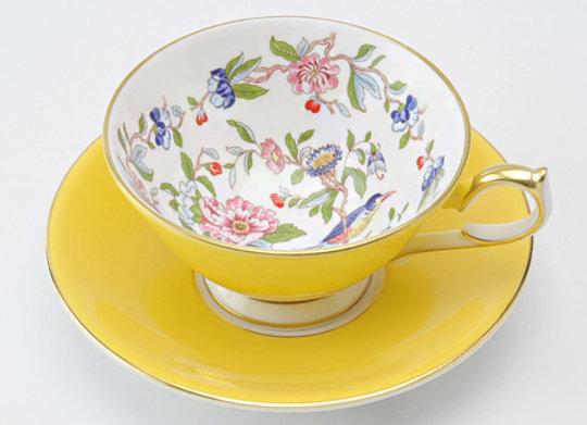 Pembroke Athens Teacup & Saucer Yellow