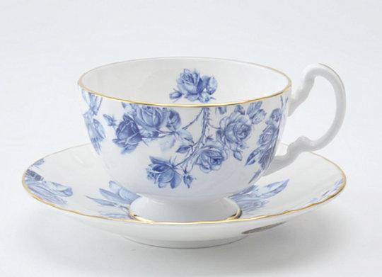 Elizabeth Blue Teacup & Saucer Oban