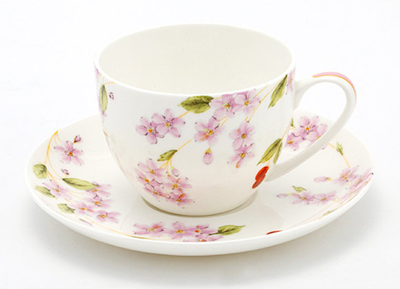 Cherry Blossom Happiness Teacup & Saucer