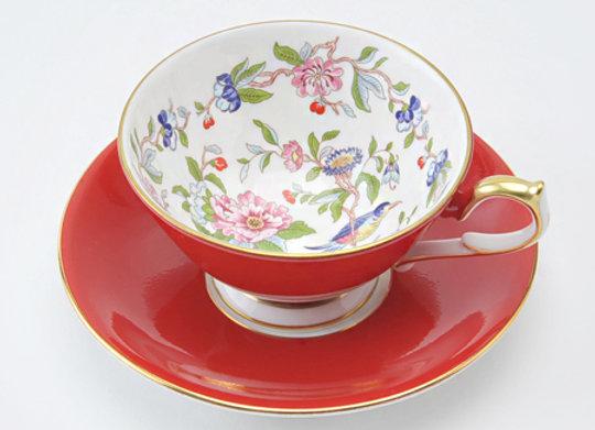 Pembroke Athens Teacup & Saucer Red