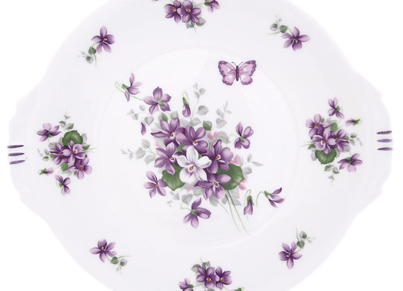 English Violet Bread & Butter Plate