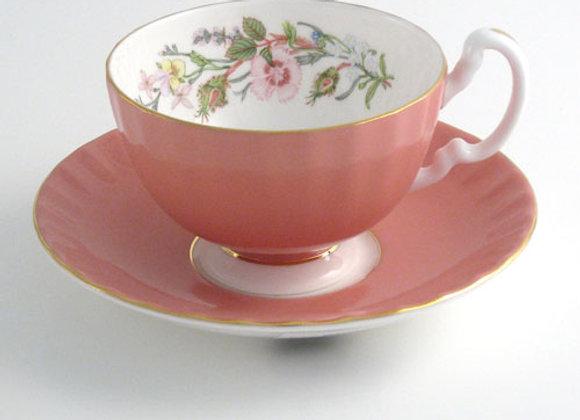 Wild Tudor Teacup & Saucer Oban