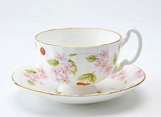 Cherry Blossom Oban Teacup & Saucer