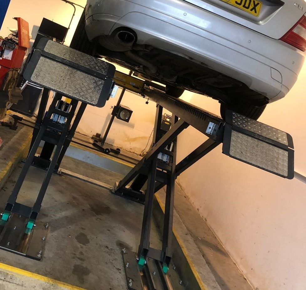 Car having an MOT Test at Godalming Garage Ltd
