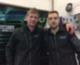 Owner Aaron Jones and mechanic Connor