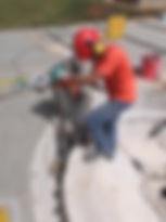 Perfuração em concreto Sub Estação da Sanepar