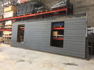prefabrication atelier mur ossature bois morance