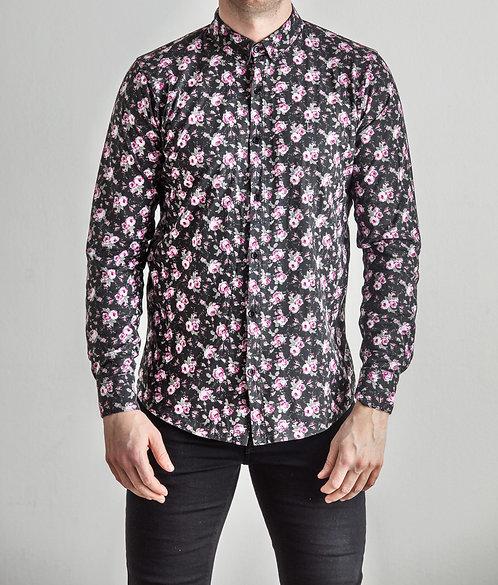 Flower Shirt Black