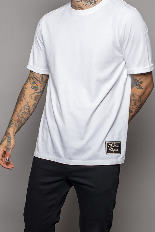 Black label tee White