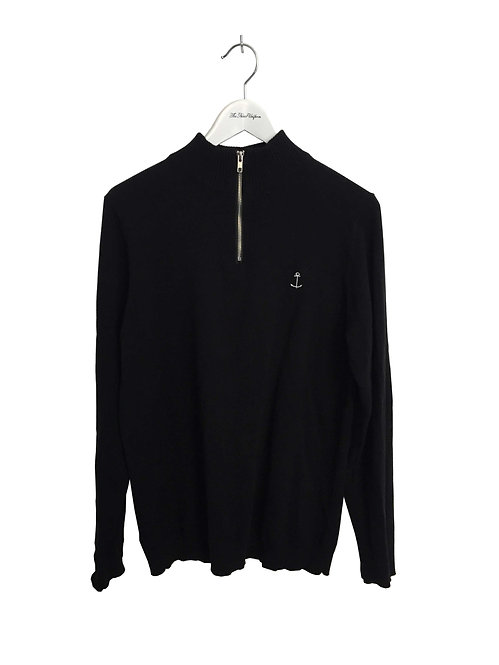 Gregory Zip Knit Black