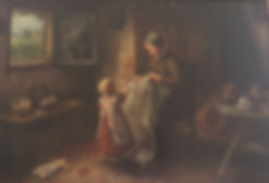 Antique oil painting sold for 725.00