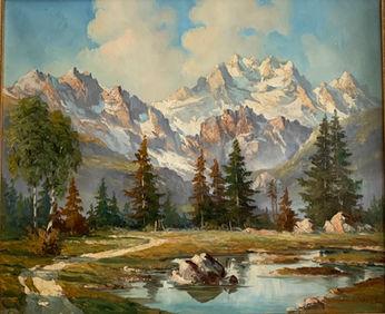 Artist Embler oil on canvas