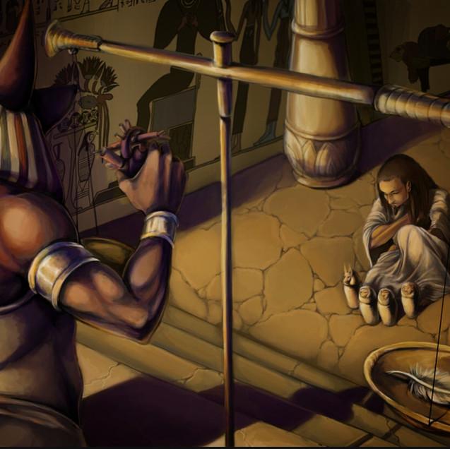 Judgement of the Dead - Testimonial of Tehuti, the Ennead, and Heru
