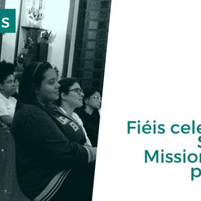 Fiéis celebram a semana missionária na paróquia