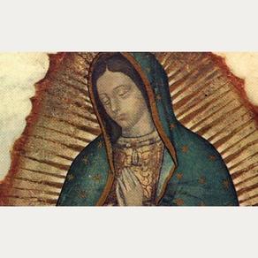 Os detalhes da imagem de Nossa Senhora de Guadalupe