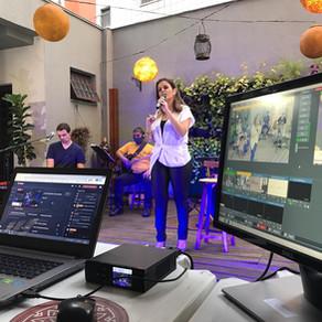 Live solidária com Alessandra Salles leva música e louvor até os lares
