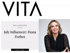 VITA's July Influencer: Fiona Forbes