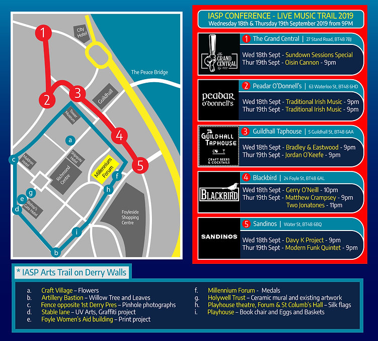 Music Trail Map IASP Conference with Art