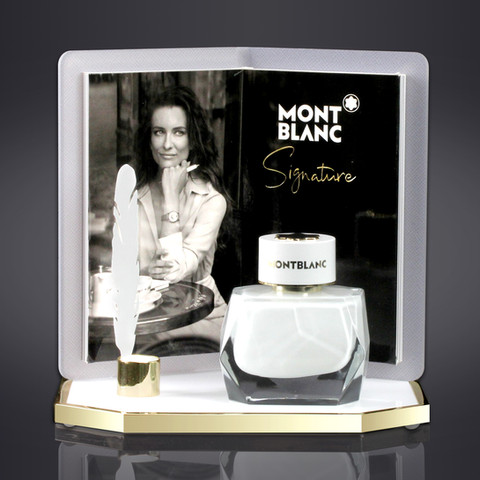 MONTBLANC SIGNATURE PERFUME DISPLAY