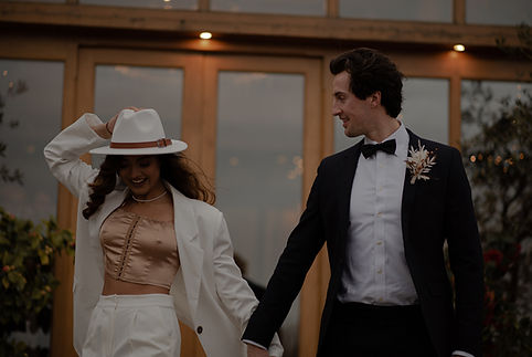 Rustic and Warm Wedding Photography. Evening Bridal Outfit Inspiration. West Midlands Wedding Photographer. Bridal Outfit with Hat