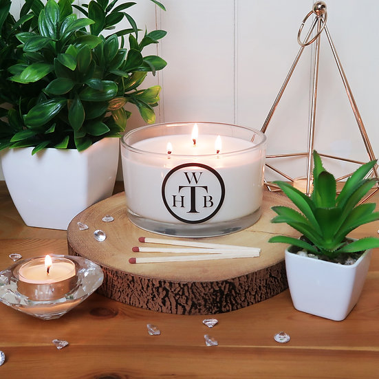 Unscented 3 Wick Soy Candle & Gift Box