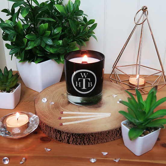 Luxury Scented Wood Wick Candle & Gift Box