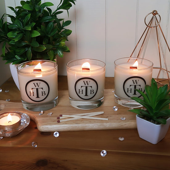 Luxury Wood Wick Candles - Choose Your Scents