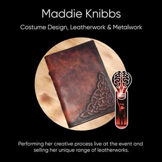 Maddie Knibbs - Costume Design, Leatherwork & Metalwork.