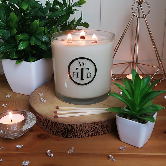 Luxury Personalised Scented 3 Wick Tall Candle Gift Set - Choose Your Scents
