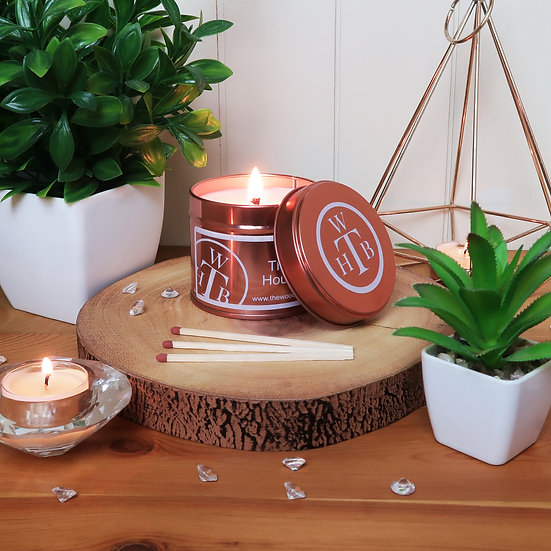 Unscented Soy Rose Gold Tin Candle & Gift Box