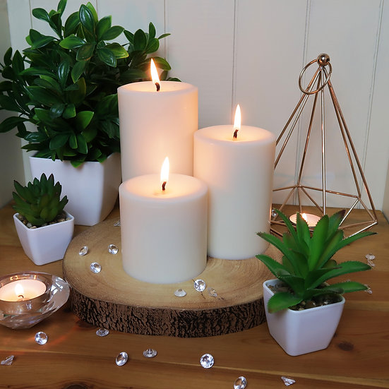 Soy Pillar Candles - Large, Medium, Small - Unscented
