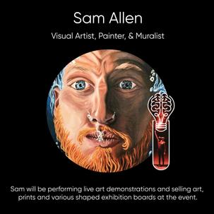 Sam Allen, Visual Artist, Painter, & Muralist.