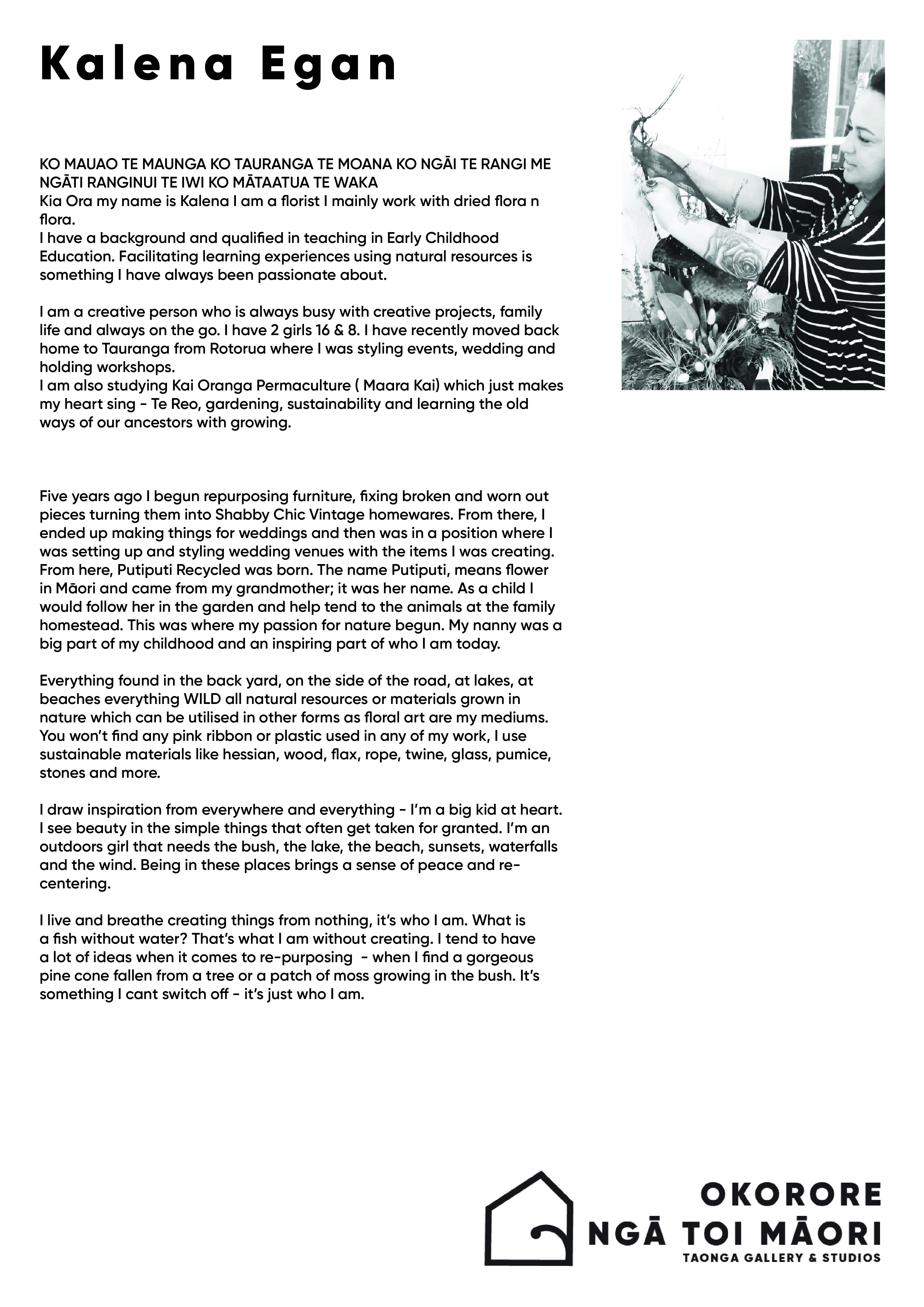 KalenaEgan2 studio bio
