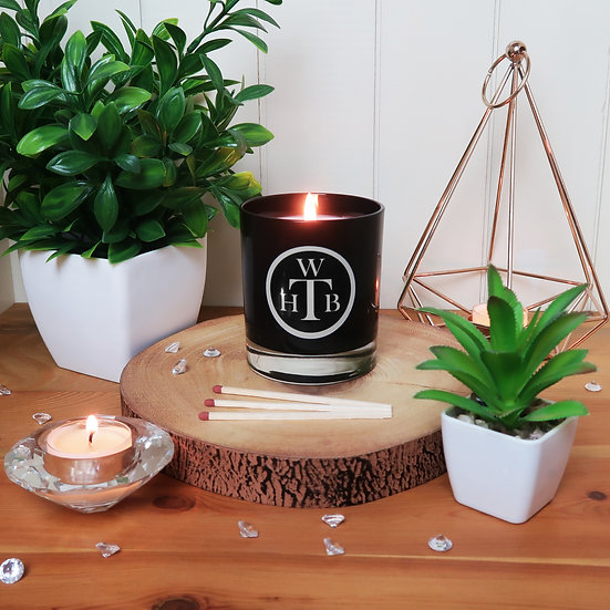 Unscented Soy Black Candle & Gift Box
