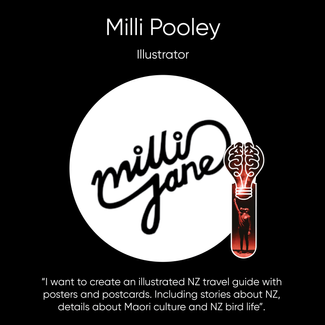 Milli Pooley, Abstract Artist & Graphic Designer.