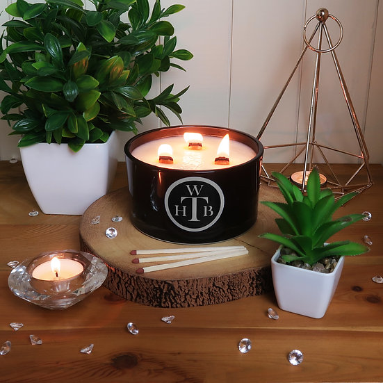 Luxury Personalised Scented 3 Wick Candle Gift Set - Choose Your Scents