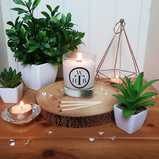 Luxury Unscented Wood Wick Candle & Gift Box