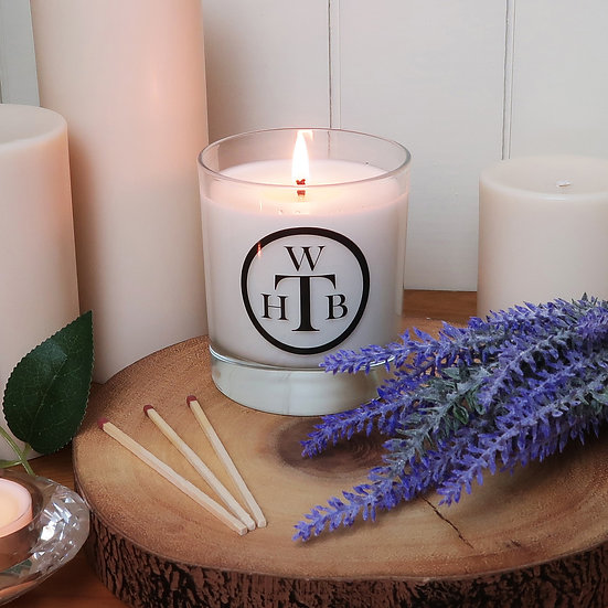 Scented Soy Candle & Gift Box - Lavender