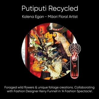 Kalena Egan (Putiputi Recycled), Maori Floral Artist.