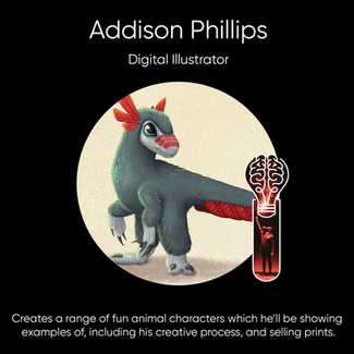 Addison Phillips, Digital Illustrator.