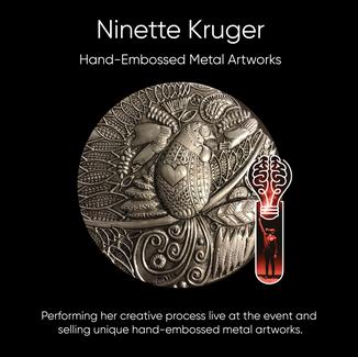 Ninette Kruger, Metal Artist.